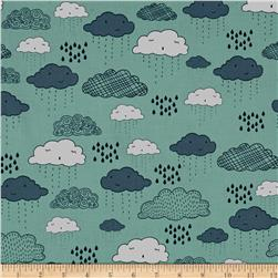 Riley Blake Greatest Adventure Clouds Aqua