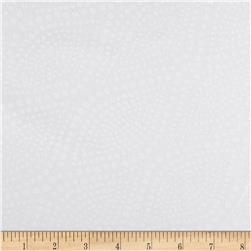 108'' Quilt Backing Diagonal Dots White on White