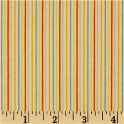 Riley Blake Rocket Age Flannel Stripes Cream Fabric
