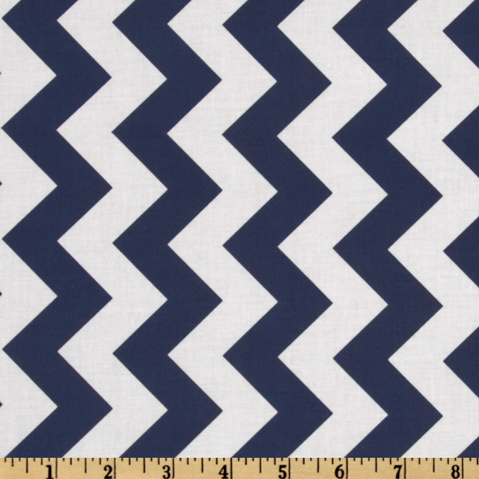 Riley Blake Chevron Medium Navy Fabric