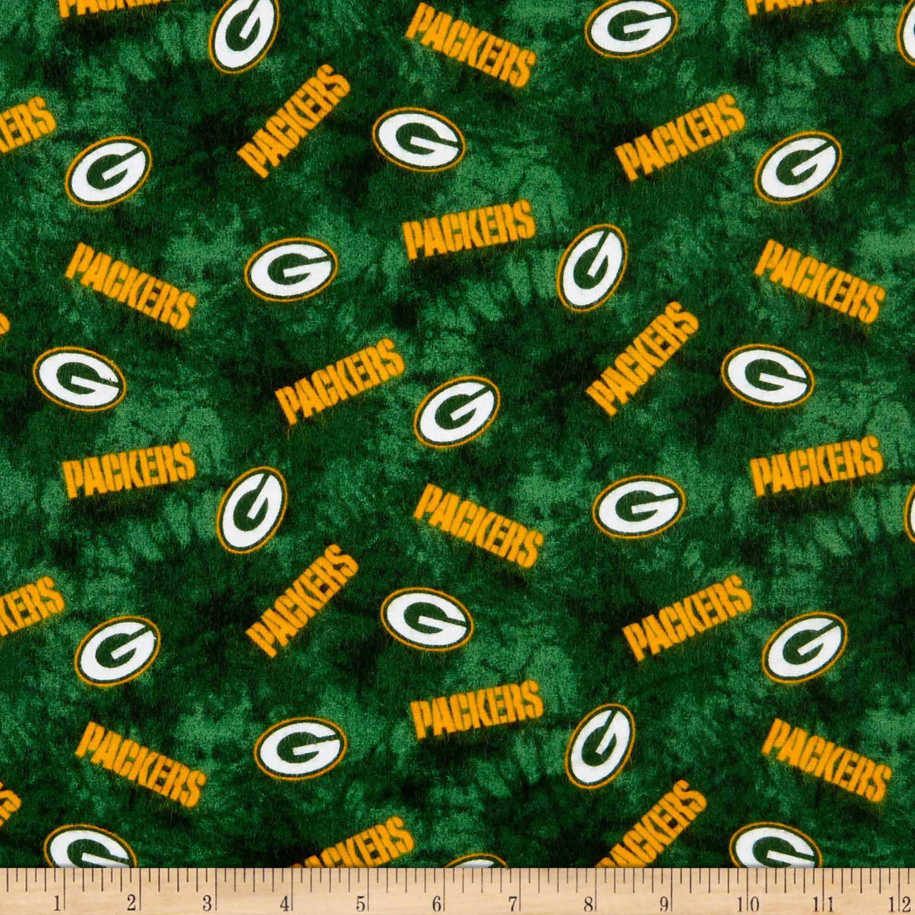 INOpets.com Anything for Pets Parents & Their Pets NFL Flannel Green Bay Packers Green Fabric