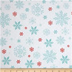 Peppermint Penguin Snowflake White