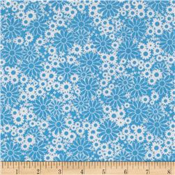 Baby Talk Splash Floral Blue/White