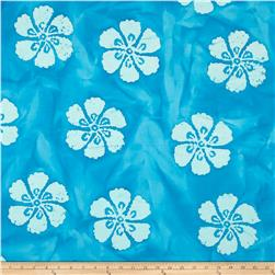 Indian Batik Hibiscus Aqua