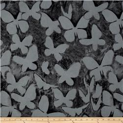 Kaufman Black & White Butterflies Jet