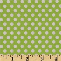 Michael Miller Butterfly Kisses Kiss Dot Lime Fabric