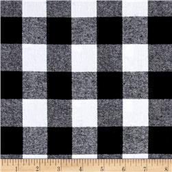 Yarn Dyed Flannel Check Black White