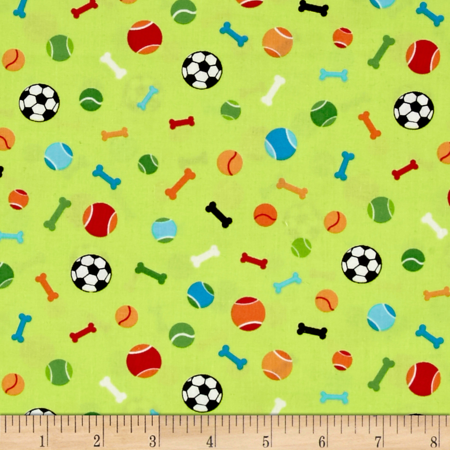 Dog's World Toys Green Fabric