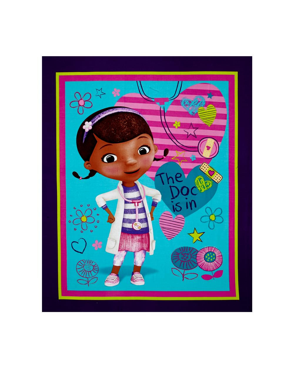 Disney Doc McStuffins The Doc is in 36 In. Panel Multi