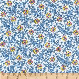 Nana Mae 1930's Medium Floral Blue