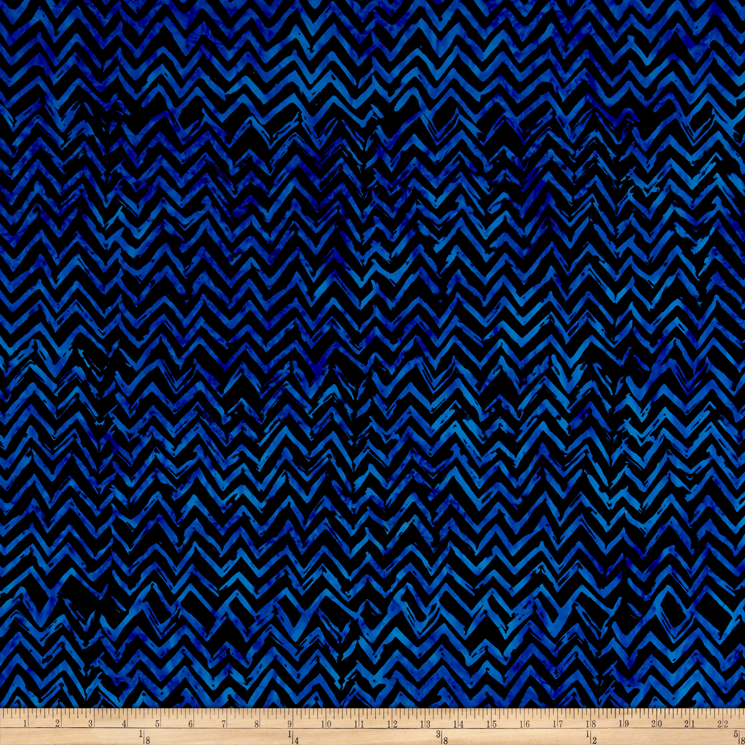 Anthology Batiks Chevron Blue Fabric