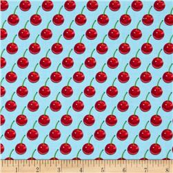 Kanvas Cherries Jubilee Cherry Dot Sky Blue