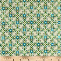 Lumina Metallic Trellis Peacock Fabric