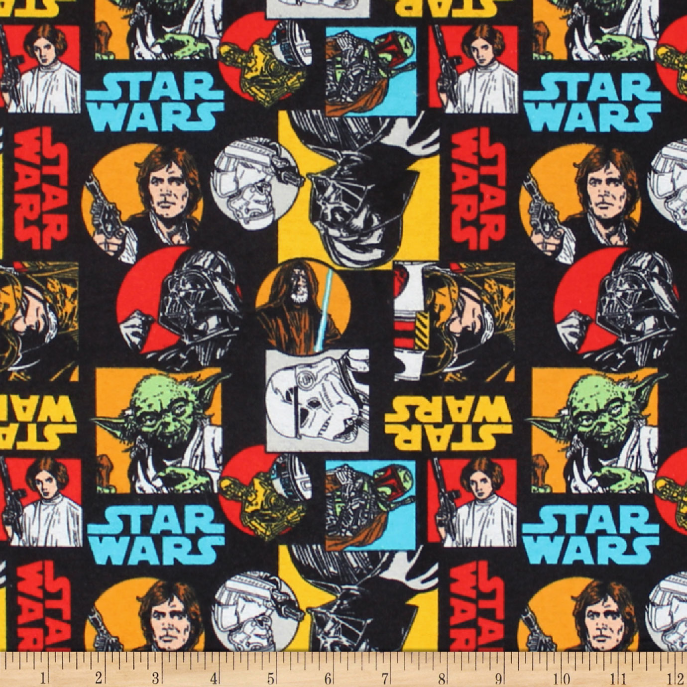 Star Wars Characters Flannel Multi Fabric 0585899