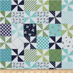Riley Blake Country Girls Country Patchwork Navy Fabric