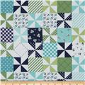 Riley Blake Country Girls Country Patchwork Navy