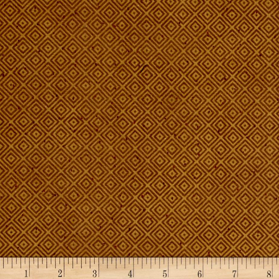 Folk Art Flannels Diamond Texture Gold Fabric By The Yard