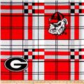 University of Georgia Fleece Plaid Red