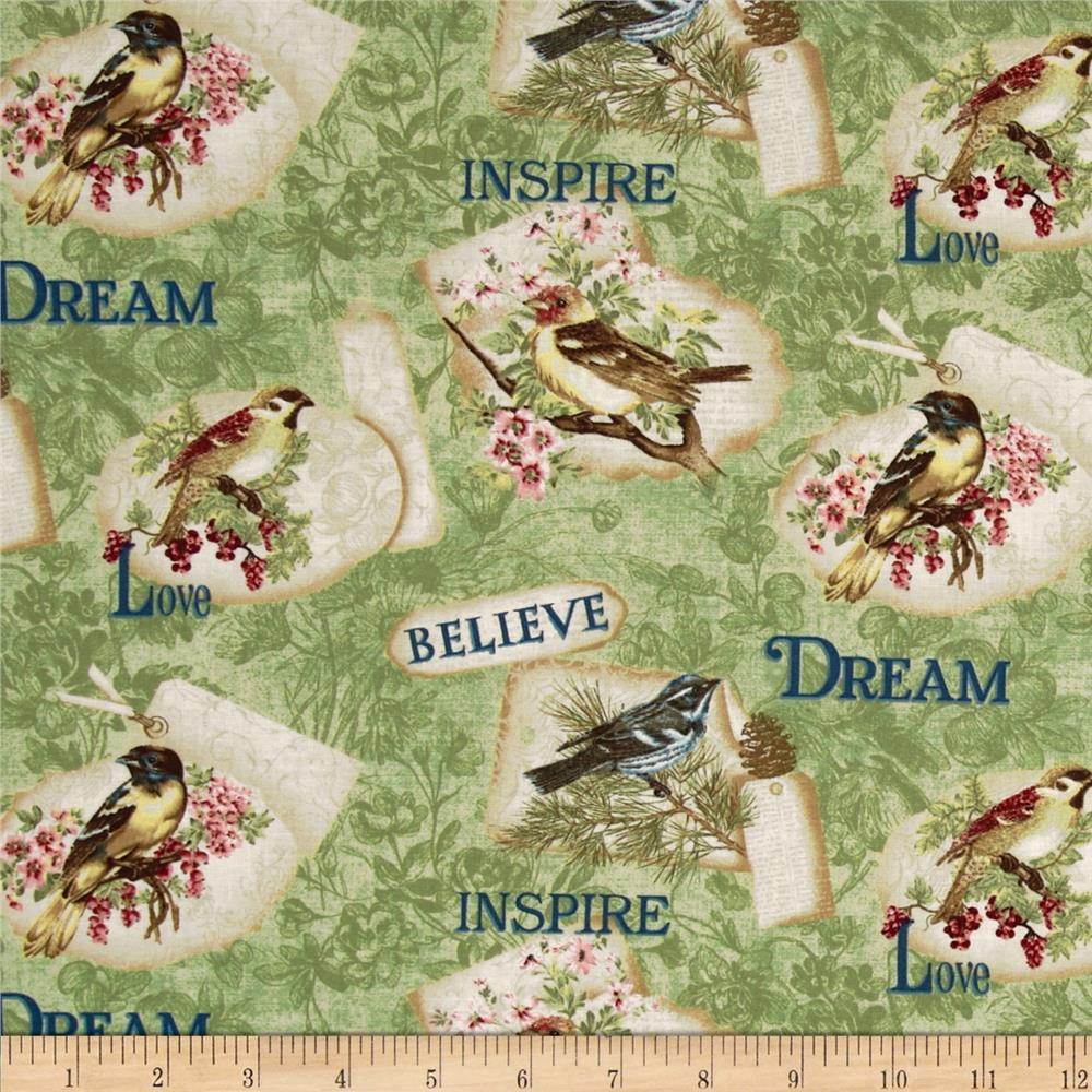 Birds of a Feather Inspiration Green