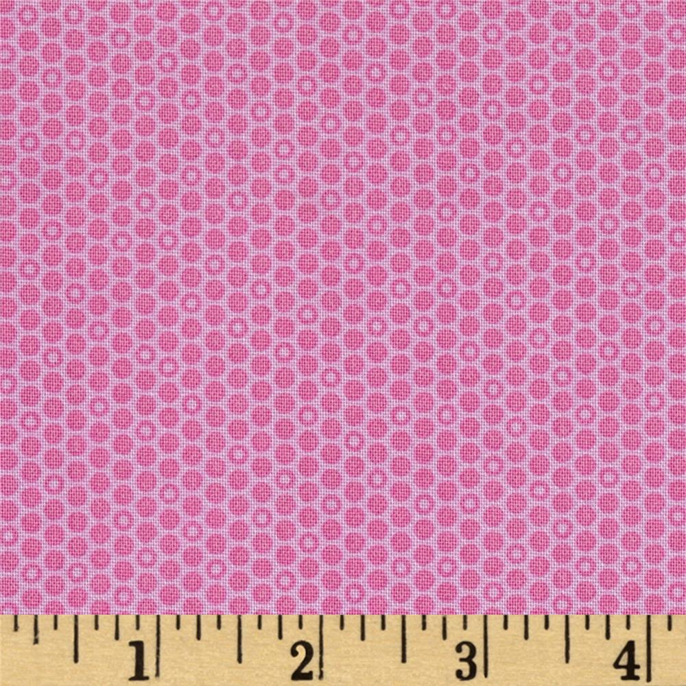 Timeless Treasures Soleil Geo Dot Pink