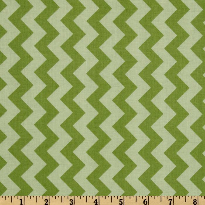 Riley Blake Chevron Small Tonal Green