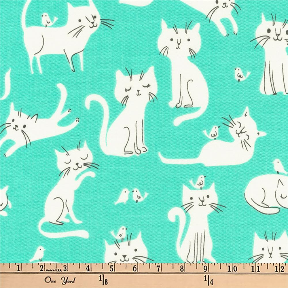 Kaufman Whiskers and Tails Kitties Mint