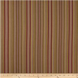 Ansley Home Decor Cotton Duck Stripe Chocolate Red