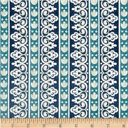 Timeless Treasures Santorini Stripe Blue