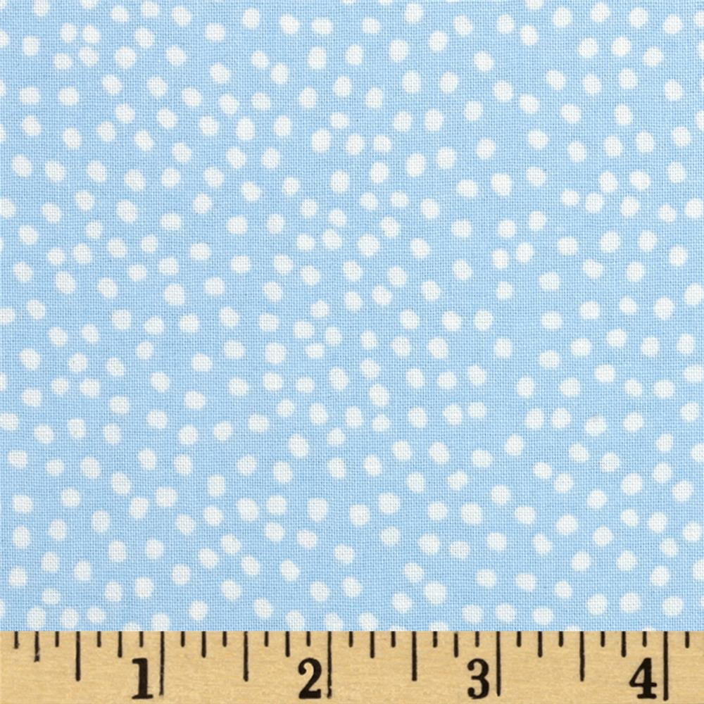 Flora Bleu Bitty Dots Blue
