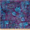 Island Batik London Fog Fern Purple/Aqua/Grn