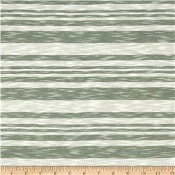 Yarn Dyed Slub Jersey Knit Stripes White/Green