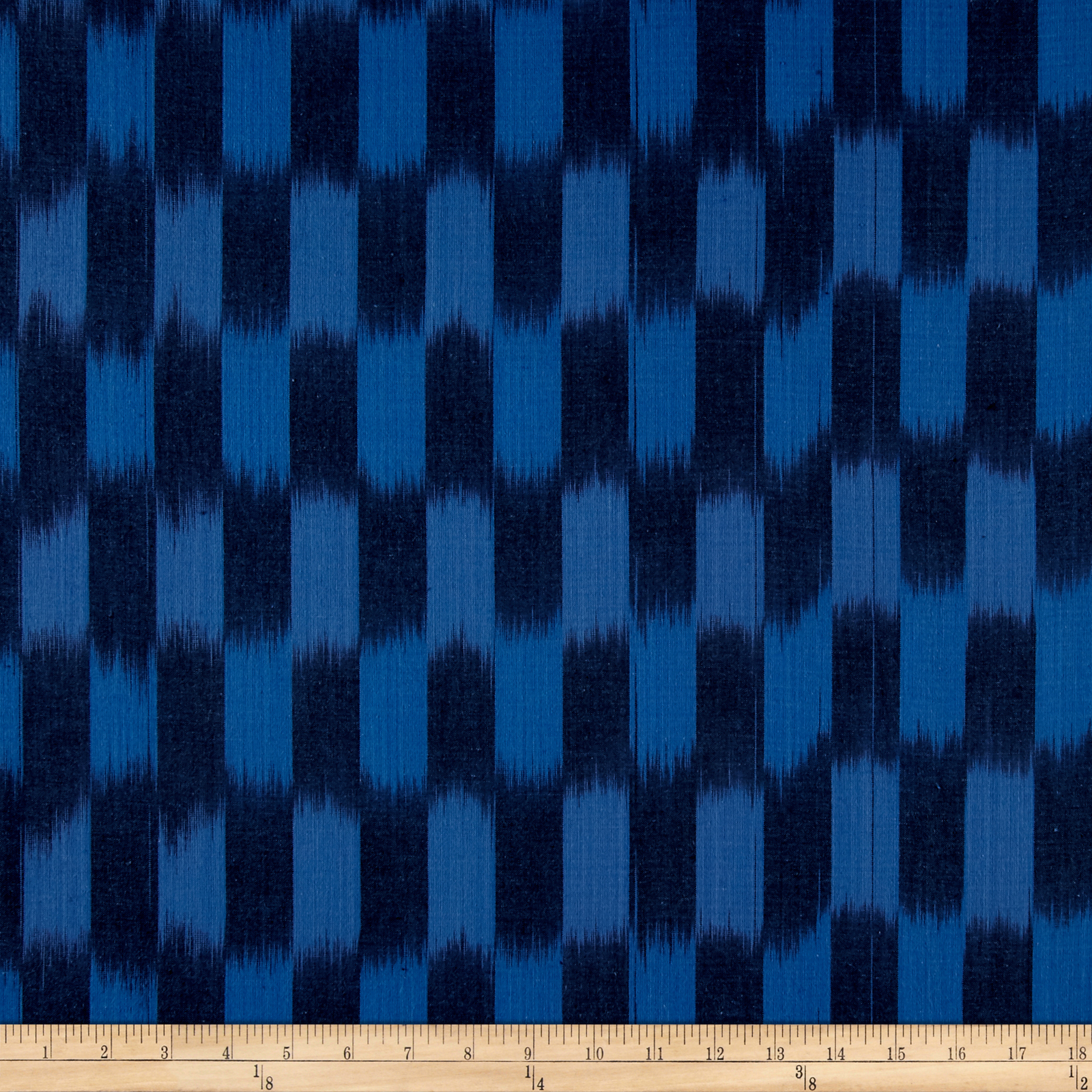 Dream Weaves Woven Ikat Check Wedgewood Fabric by Andover & Makower in USA
