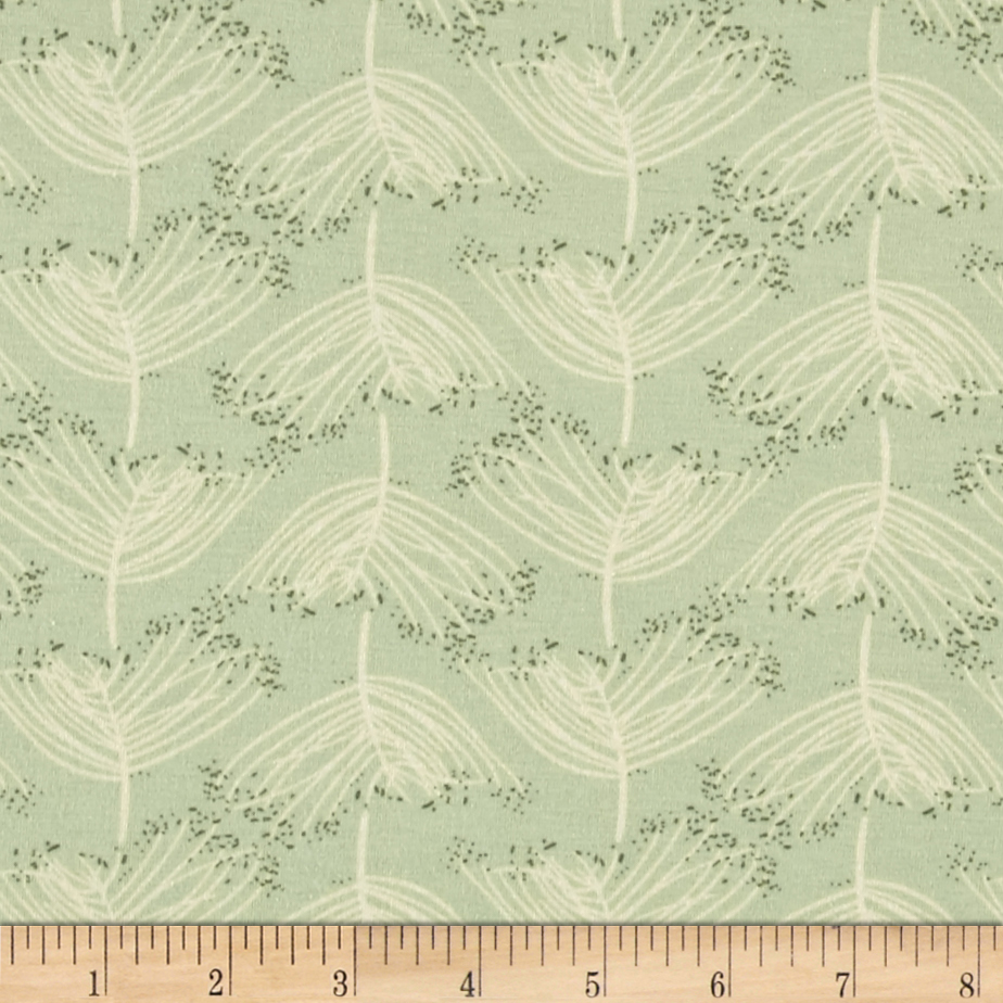 Art Gallery Forest Floor Jersey Knit Laced Moss Fabric by Art Gallery in USA
