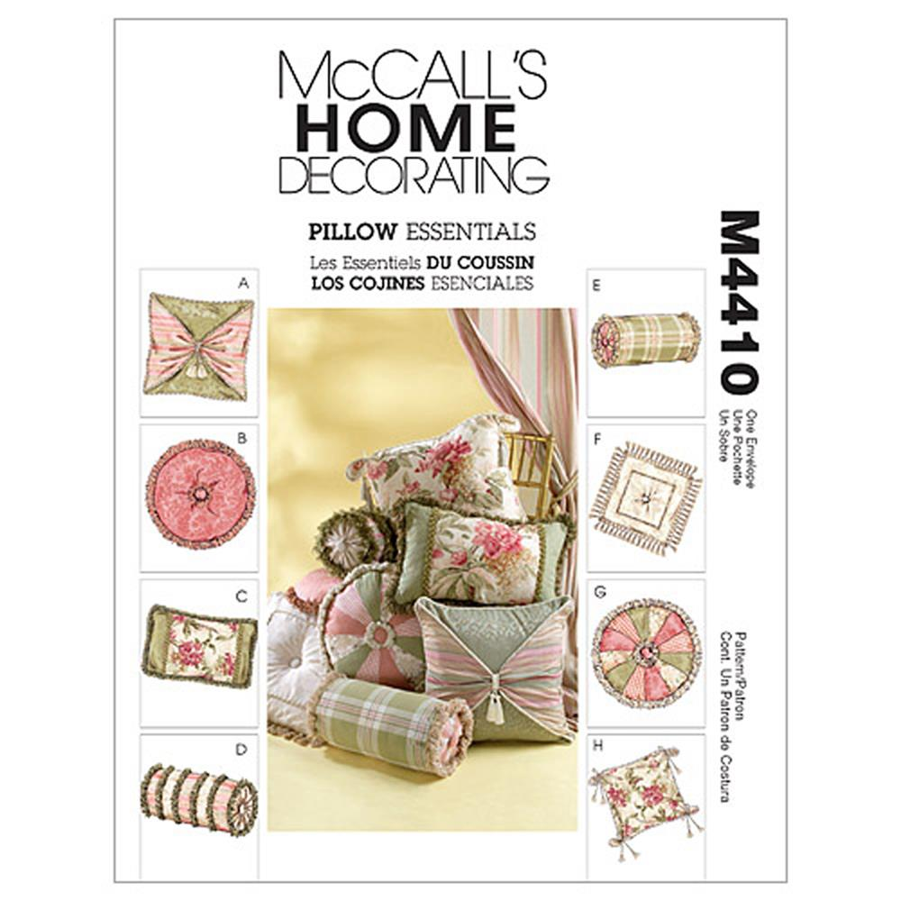 McCall's Pillow Essentials Pattern M4410 Size OSZ