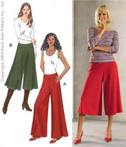 Kwik Sew Misses Palazzo and Gaucho Pants Pattern
