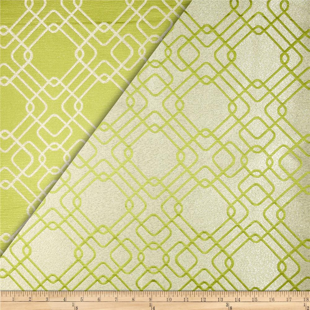 World wide rigel metallic geo satin jacquard apple for Fabric world