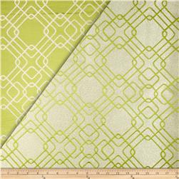World Wide Rigel Metallic Geo Satin Jacquard Apple