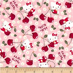 Kokka Sanrio Hello Kitty Cherry Land Sheeting Pink