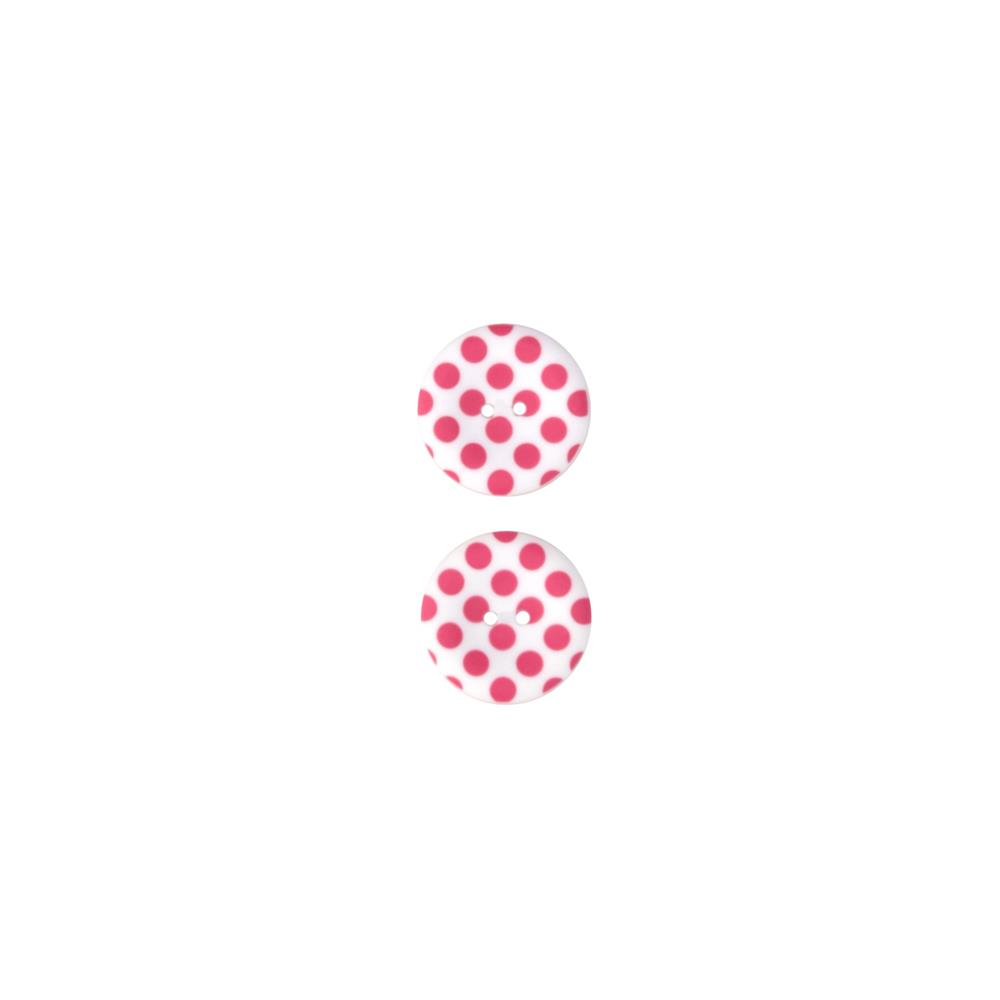 Riley Blake Sew Together 1 1/2 Matte Button Dots Hot Pink
