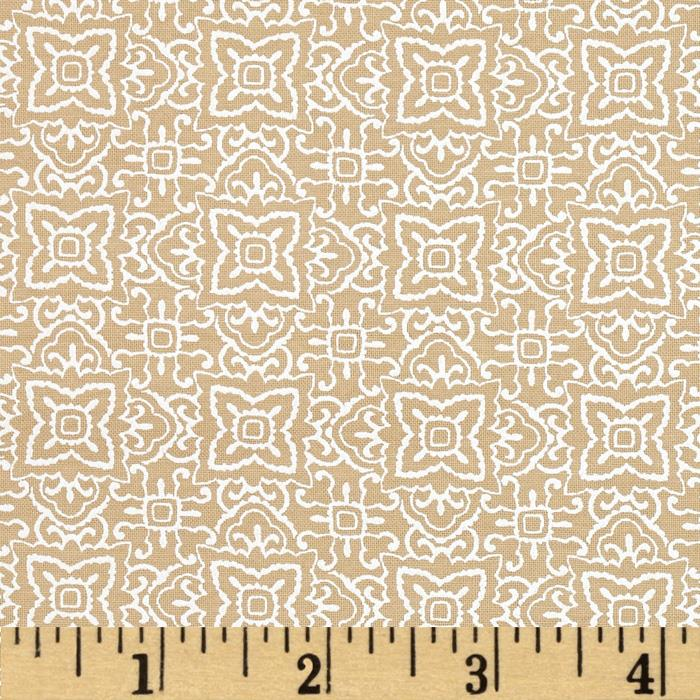 Whisper Prints Geo Floral Taupe