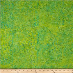 Island Batik Cry Me a River Lime/Turquoise Scroll