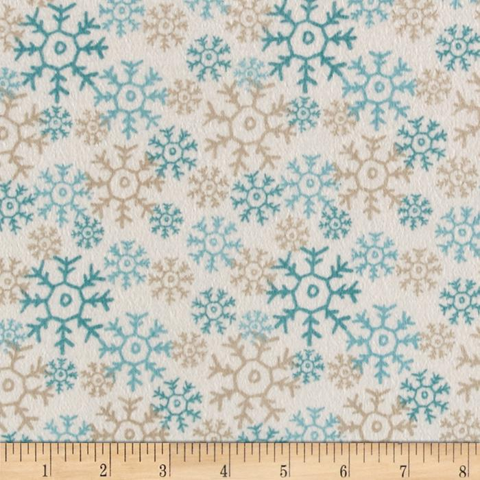 Wise One Flannel Snowflake Cream