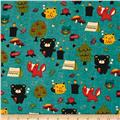 Alpine Flannel Bear Country Teal