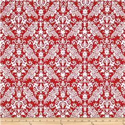 Riley Blake Medium Damask Red Fabric