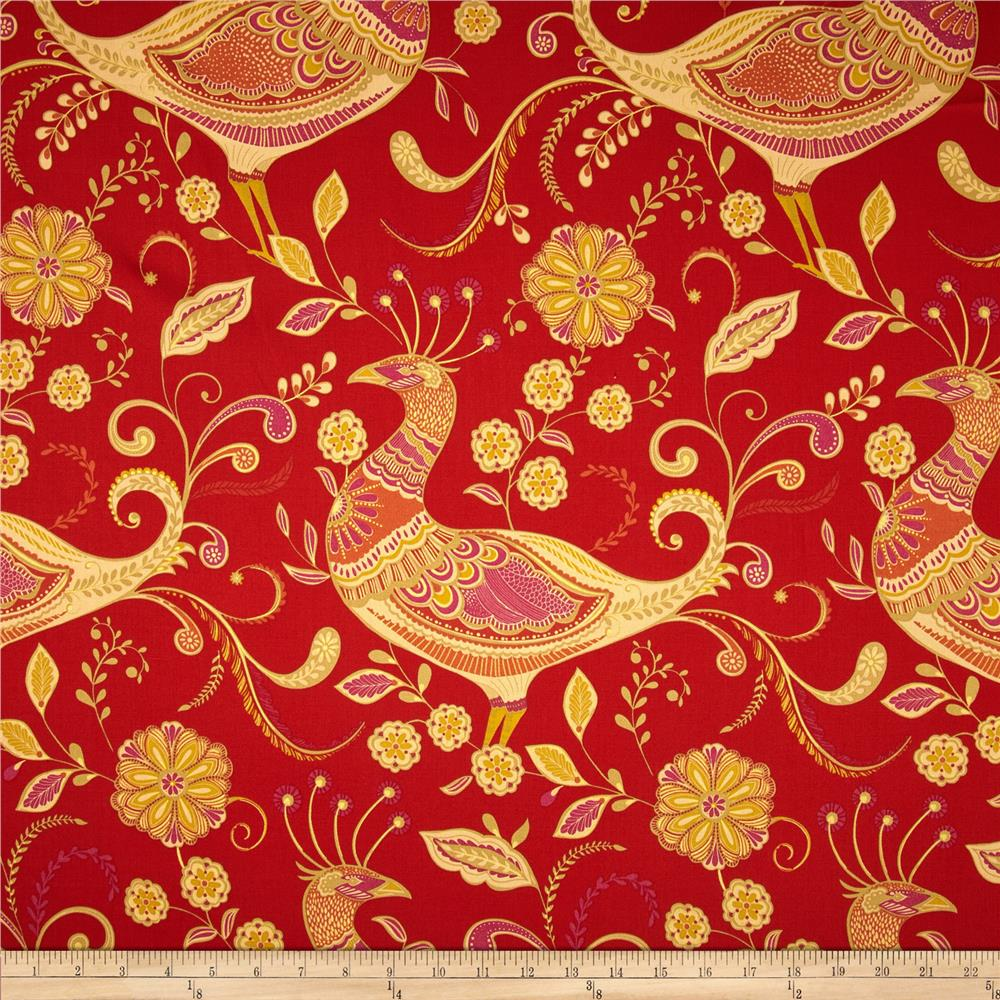 Richloom Fantasy Twill India Red