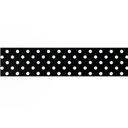 1.5'' Grosgrain Polka Dots Black/White