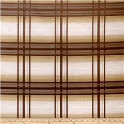 Fabricut Crypton Windowpane Brownstone