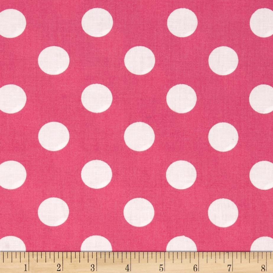 "Riley Blake 108"" Wide Medium Dots Pink"
