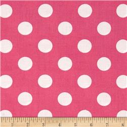 Riley Blake 108'' Wide Medium Dots Pink Fabric