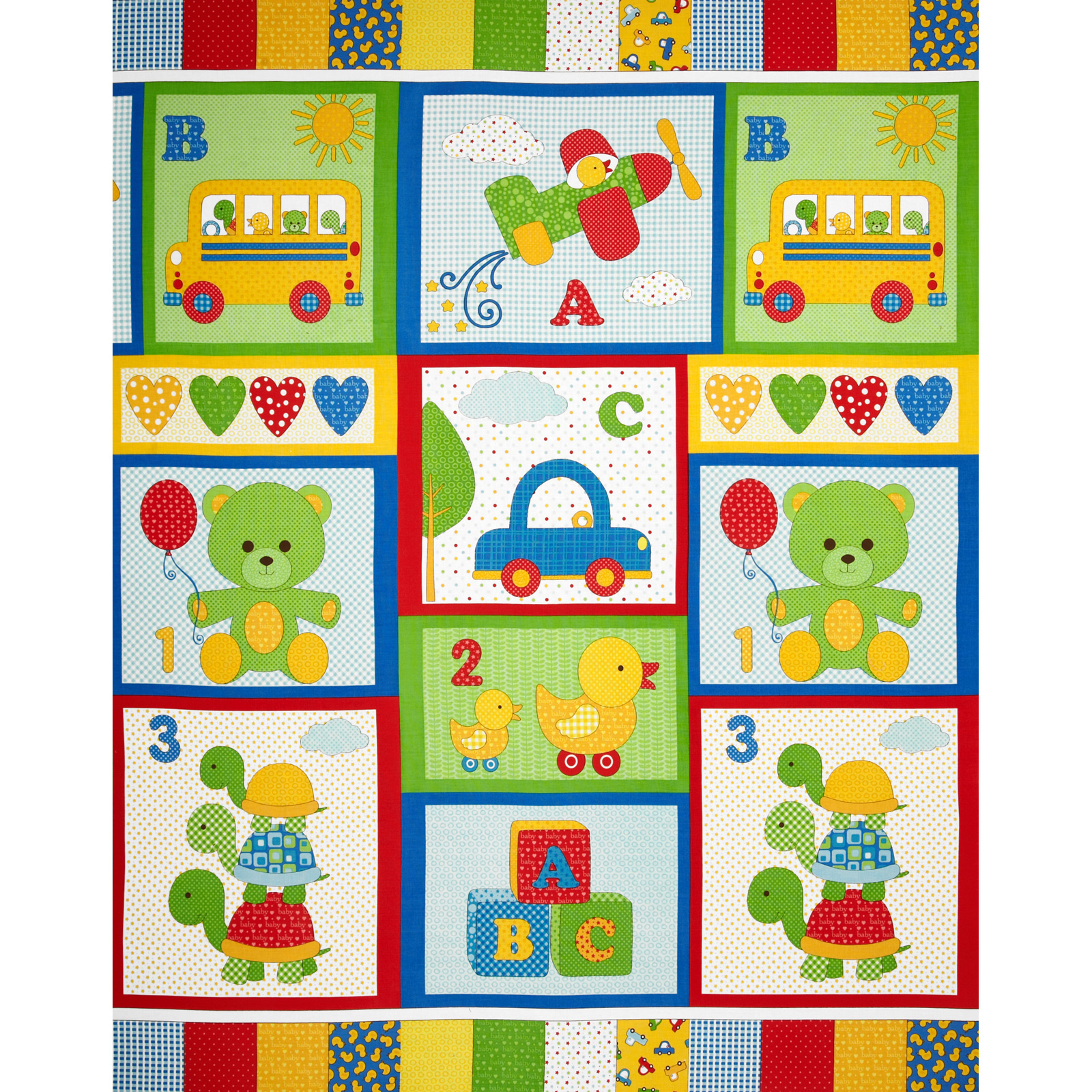 Bundle of Joy Panel Green Fabric